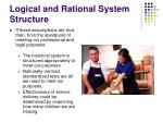 logical and rational system structure