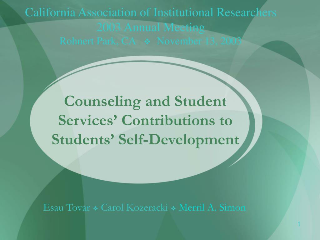 counseling and student services contributions to students self development