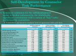 self development by counselor task performance