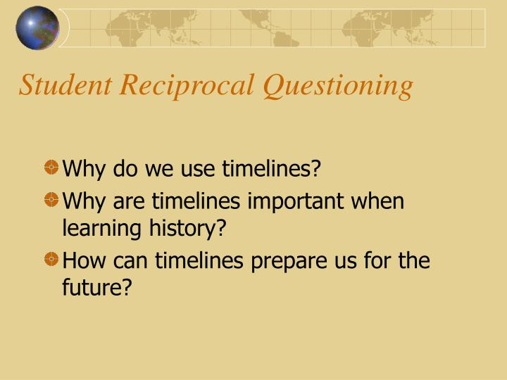 Student reciprocal questioning