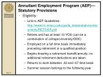 annuitant employment program aep statutory provisions19