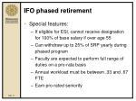 ifo phased retirement