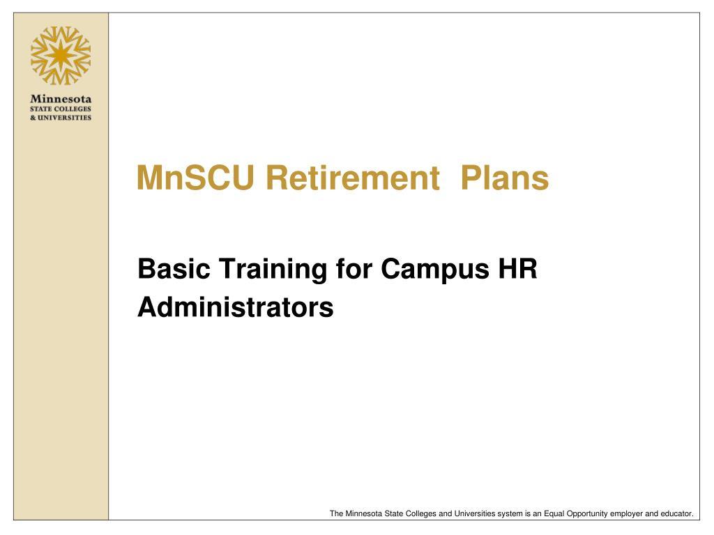 mnscu retirement plans l.