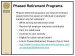 phased retirement programs