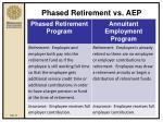 phased retirement vs aep23