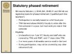statutory phased retirement