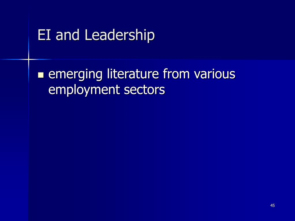 EI and Leadership