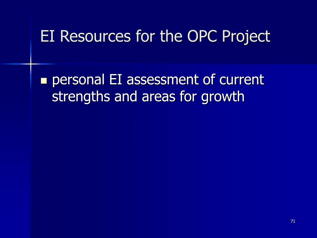 EI Resources for the OPC Project
