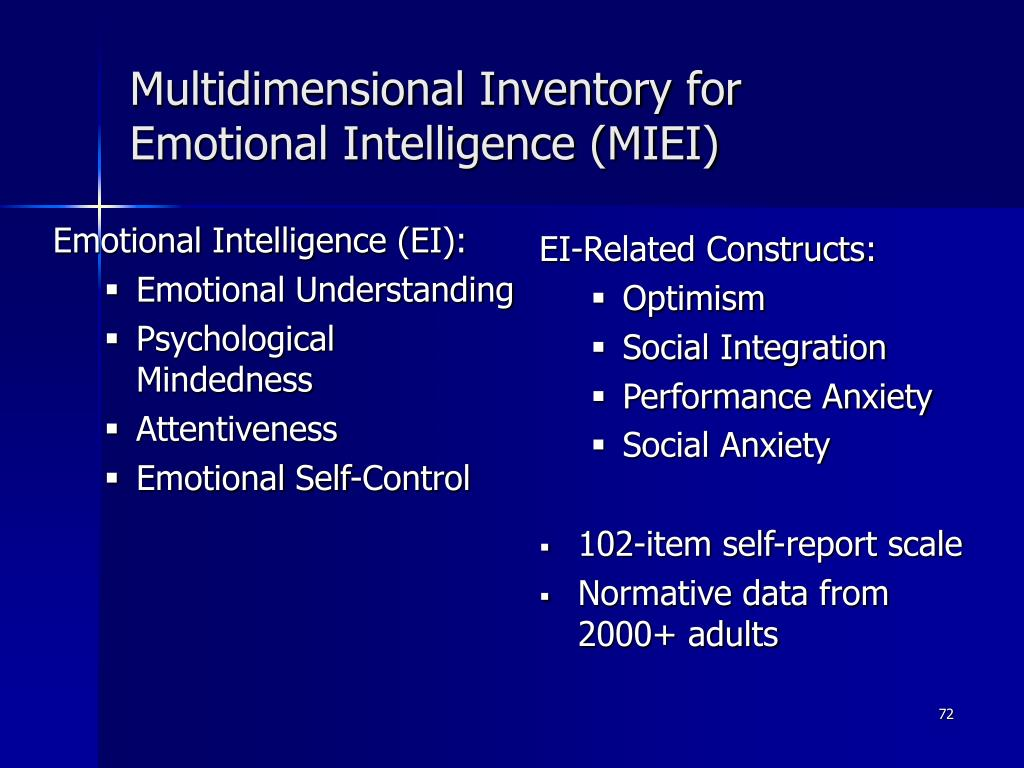 Emotional Intelligence (EI):
