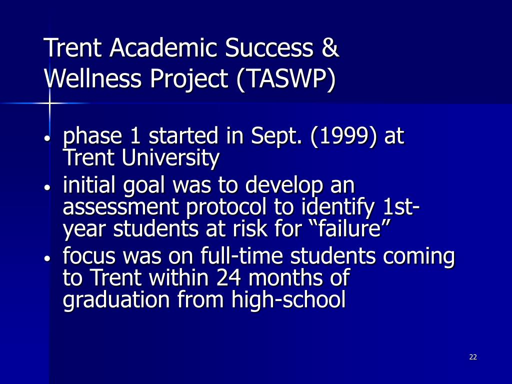 Trent Academic Success & Wellness Project (TASWP)