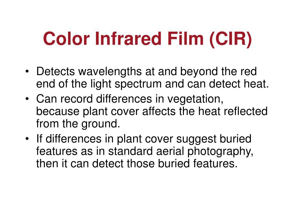 Color Infrared Film (CIR)