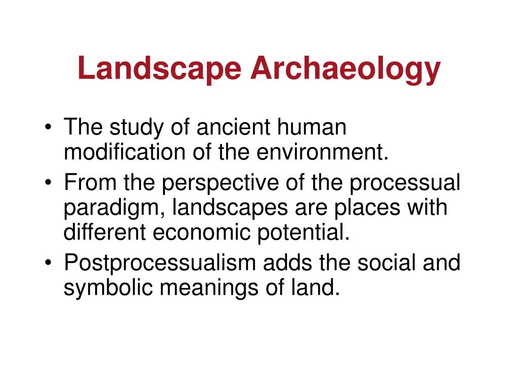 Landscape Archaeology
