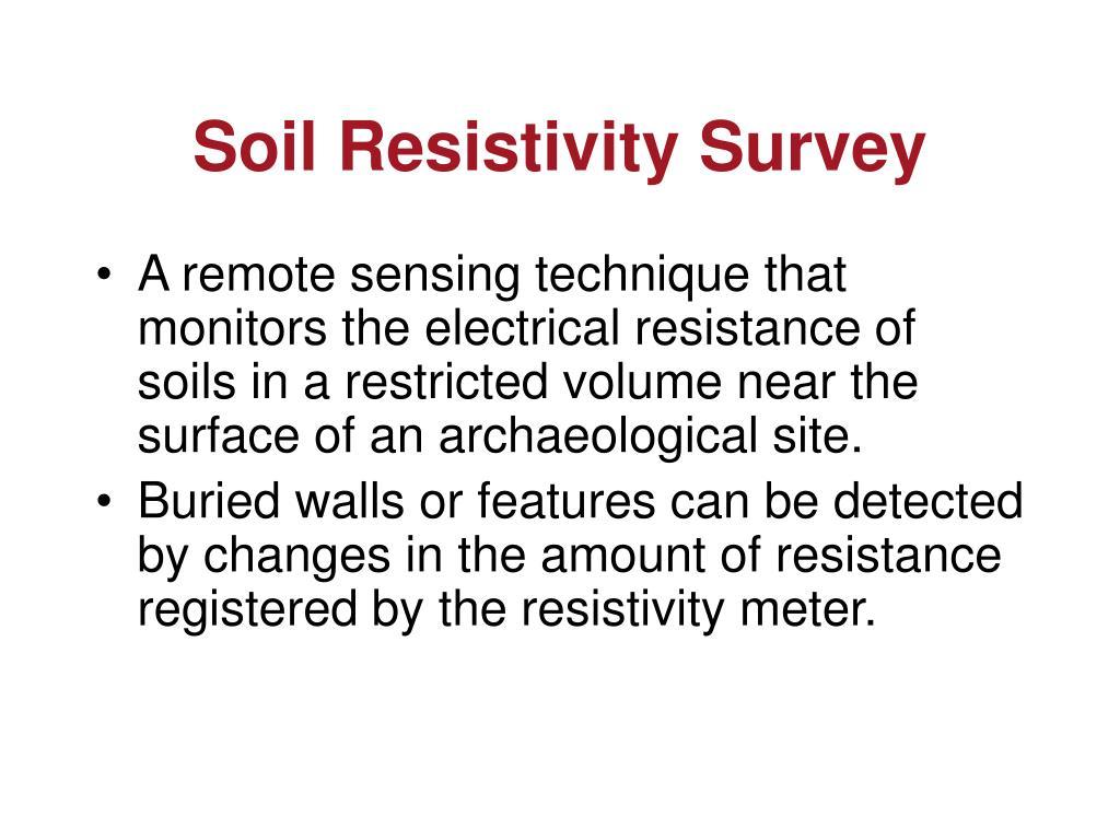 Soil Resistivity Survey