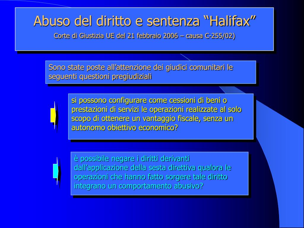 """Abuso del diritto e sentenza """"Halifax"""""""