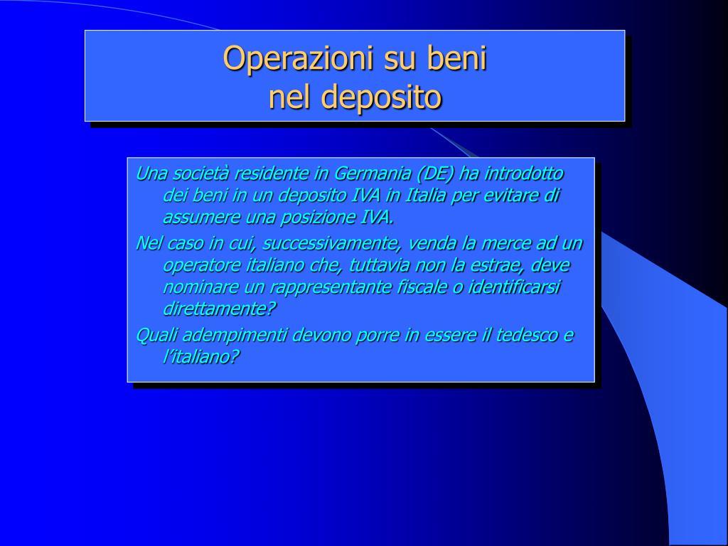 Operazioni su beni