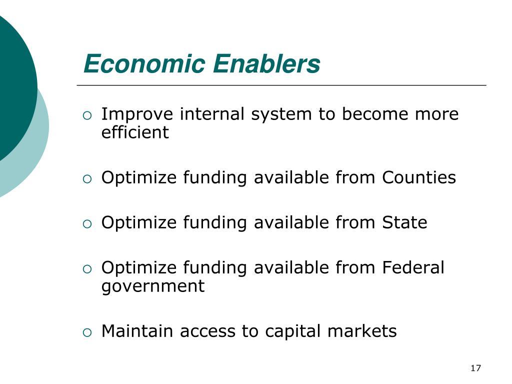 Economic Enablers