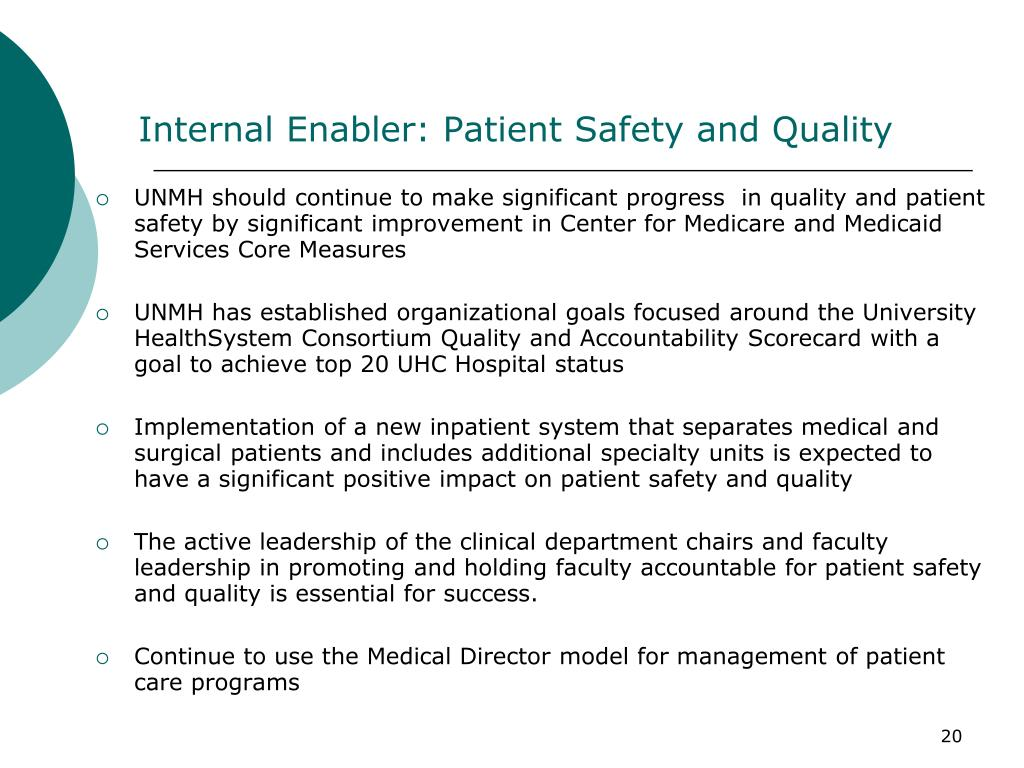 Internal Enabler: Patient Safety and Quality