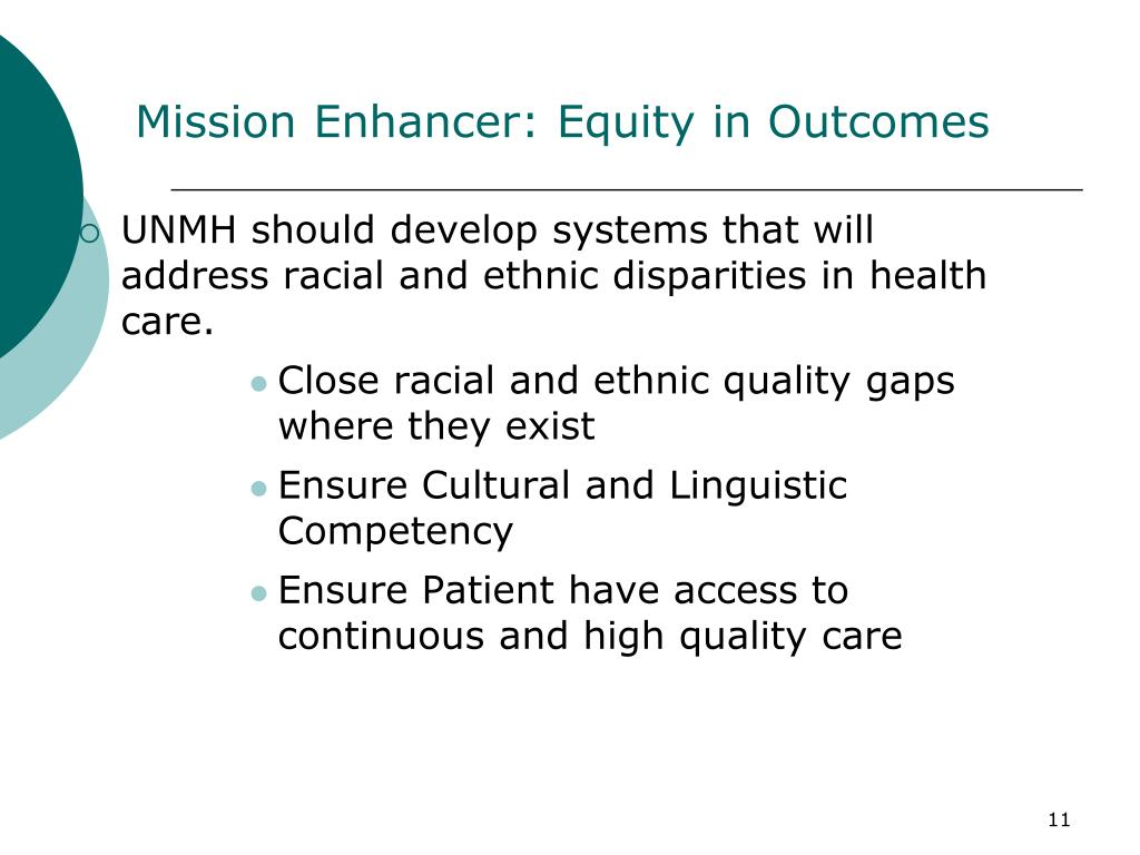 Mission Enhancer: Equity in Outcomes