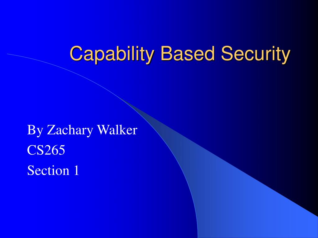 capability based security l.