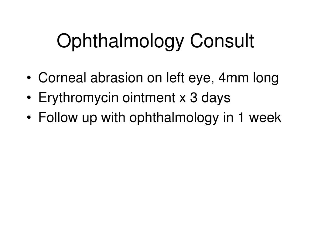 Ophthalmology Consult