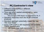 pc contractor s view