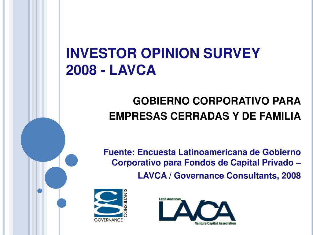 investor opinion survey 2008 lavca l.