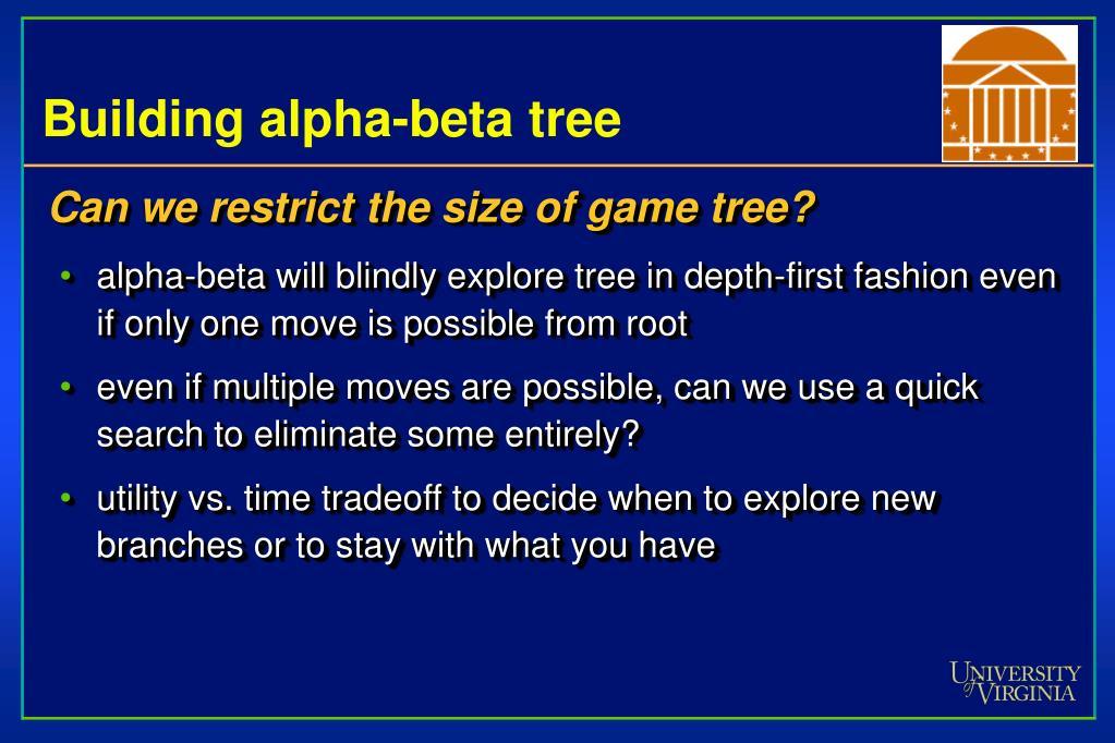 Building alpha-beta tree