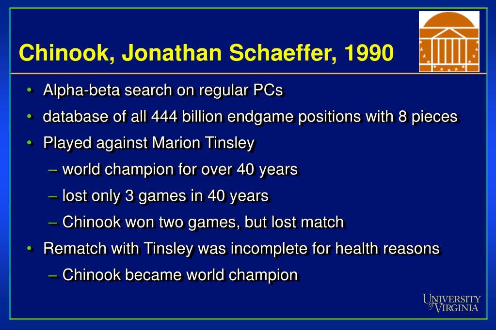 Chinook, Jonathan Schaeffer, 1990