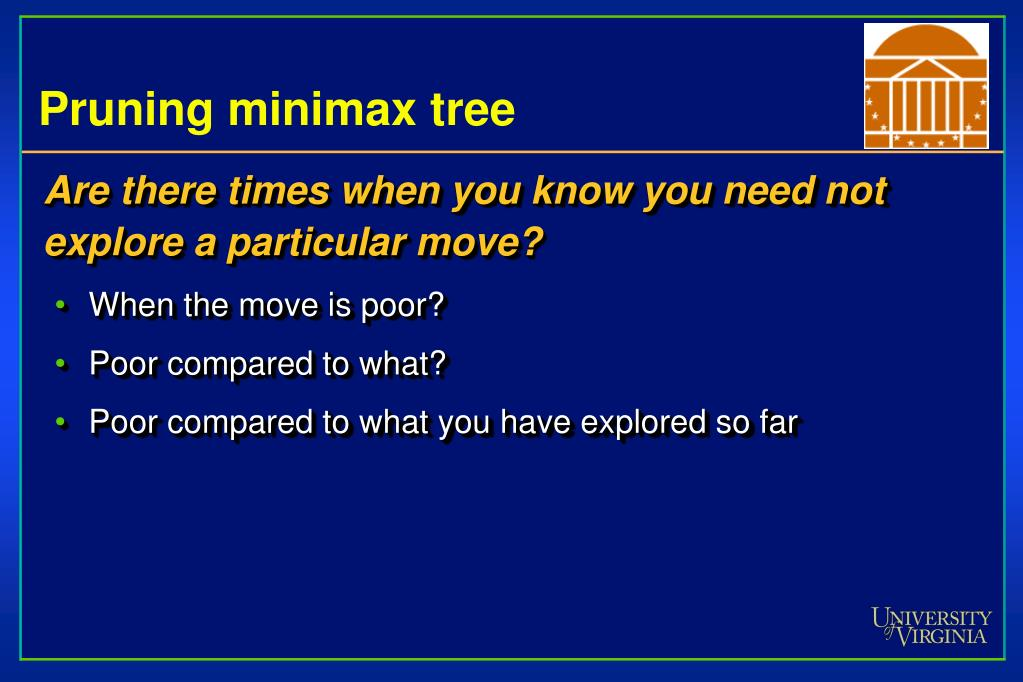 Pruning minimax tree