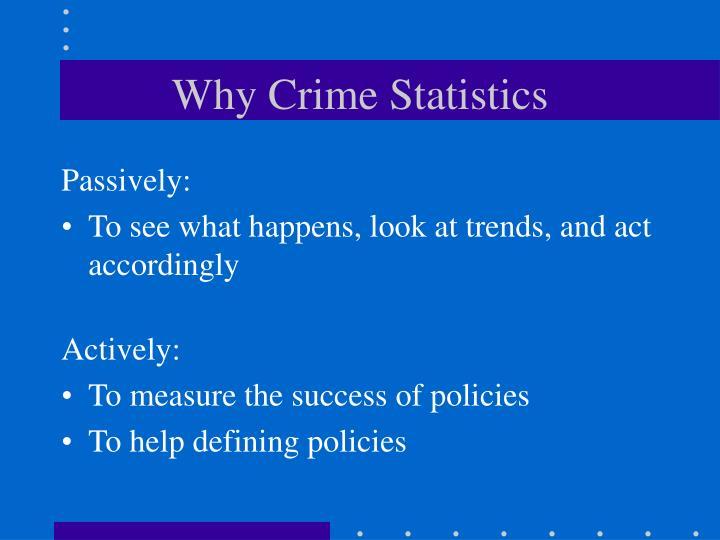 Why crime statistics