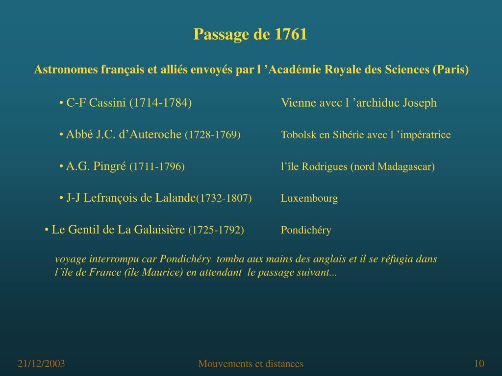 Passage de 1761