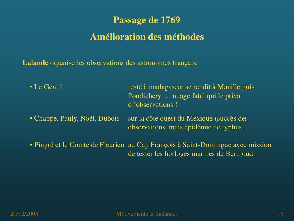 Passage de 1769