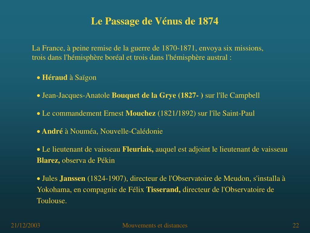 Le Passage de Vénus de 1874