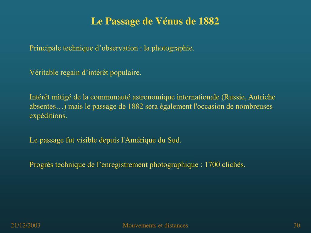Le Passage de Vénus de 1882