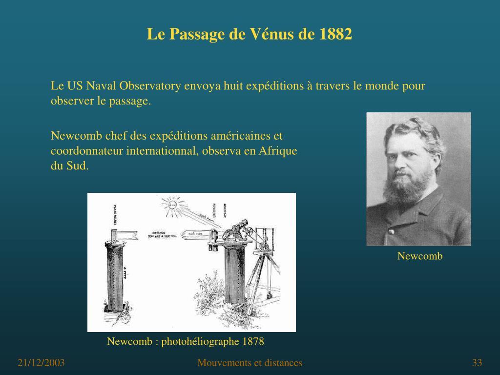 Newcomb chef des expéditions américaines et coordonnateur internationnal, observa en Afrique du Sud.