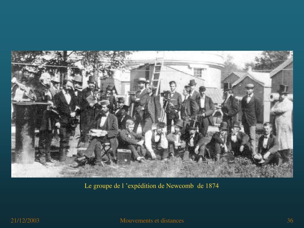Le groupe de l'expédition de Newcomb  de 1874