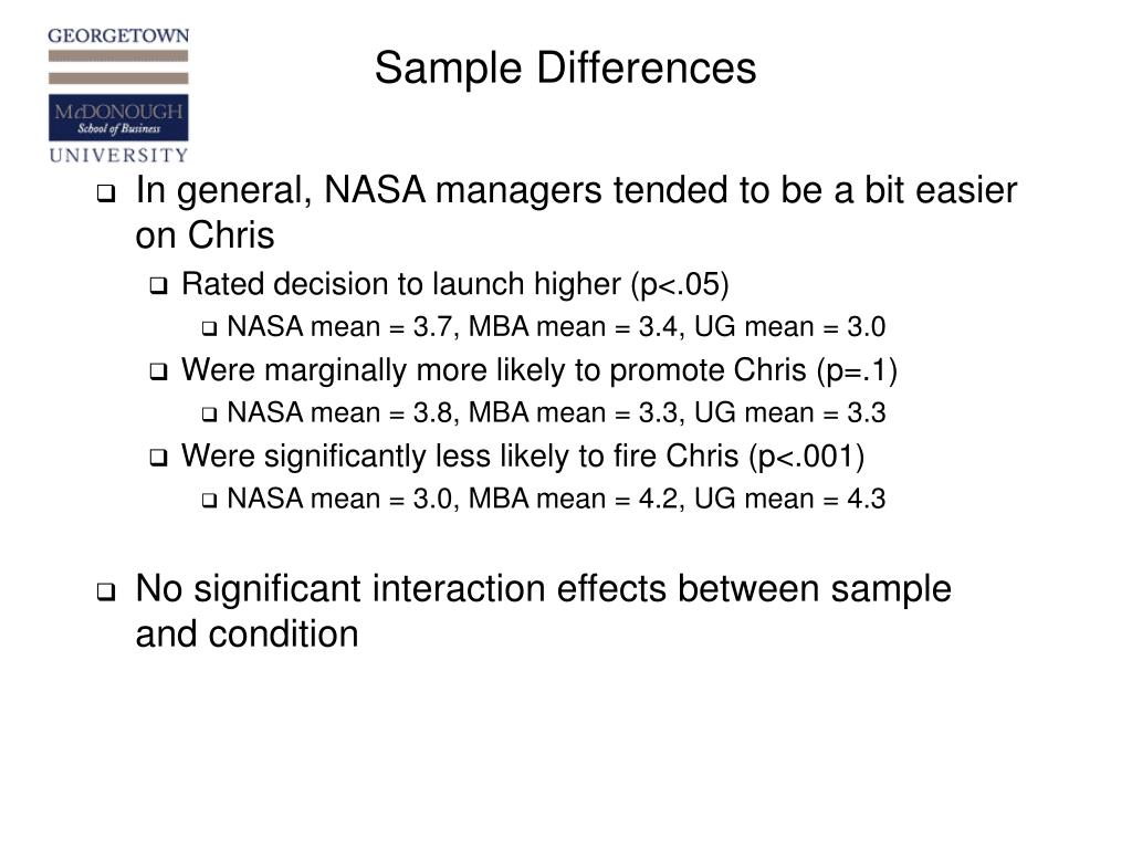Sample Differences