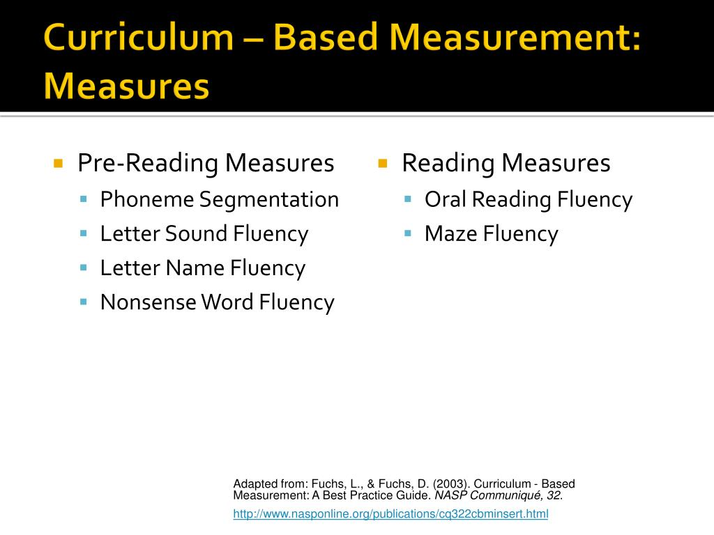 Pre-Reading Measures