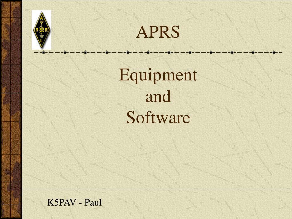 aprs equipment and software l.