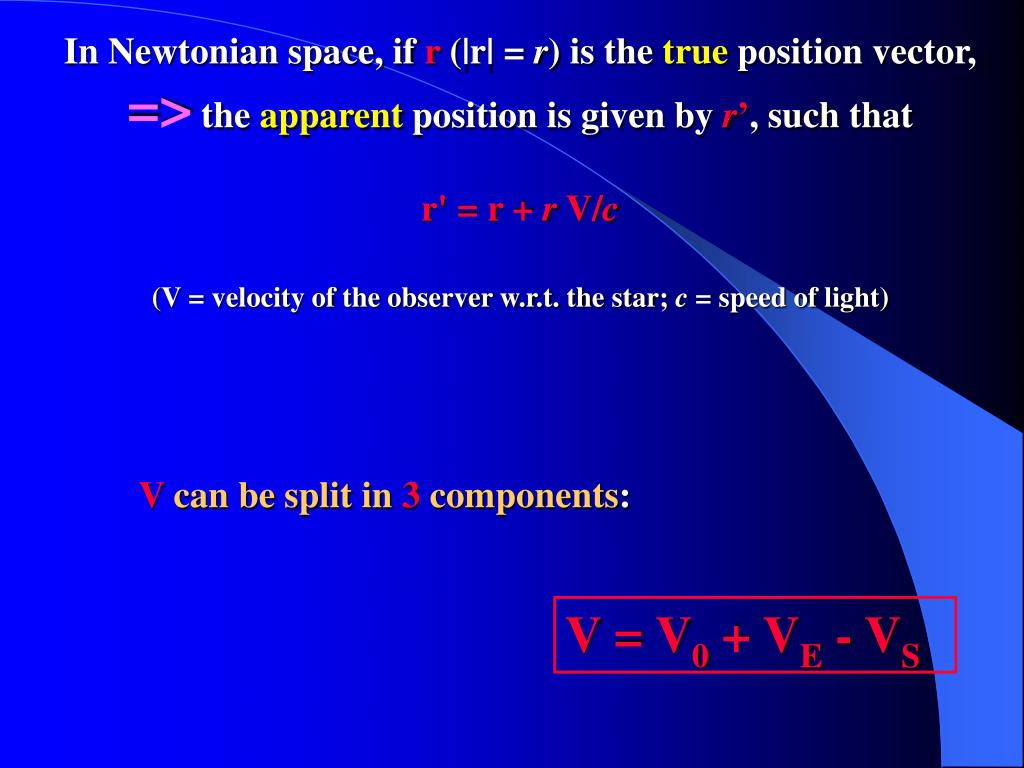 In Newtonian space, if