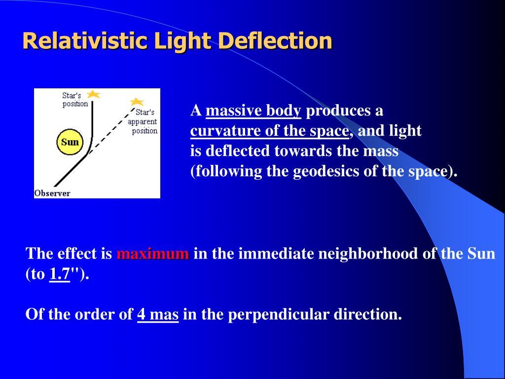 Relativistic Light Deflection
