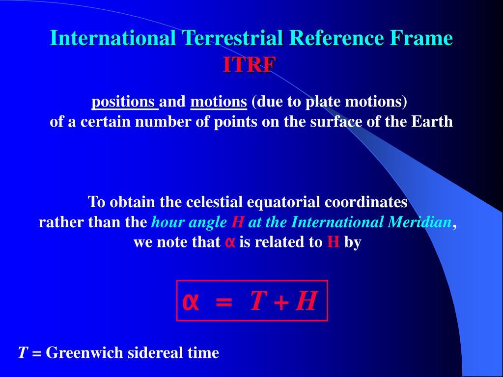 International Terrestrial Reference Frame