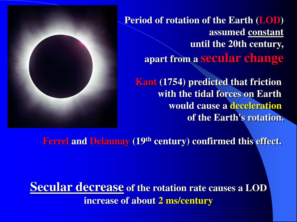 Period of rotation of the Earth (