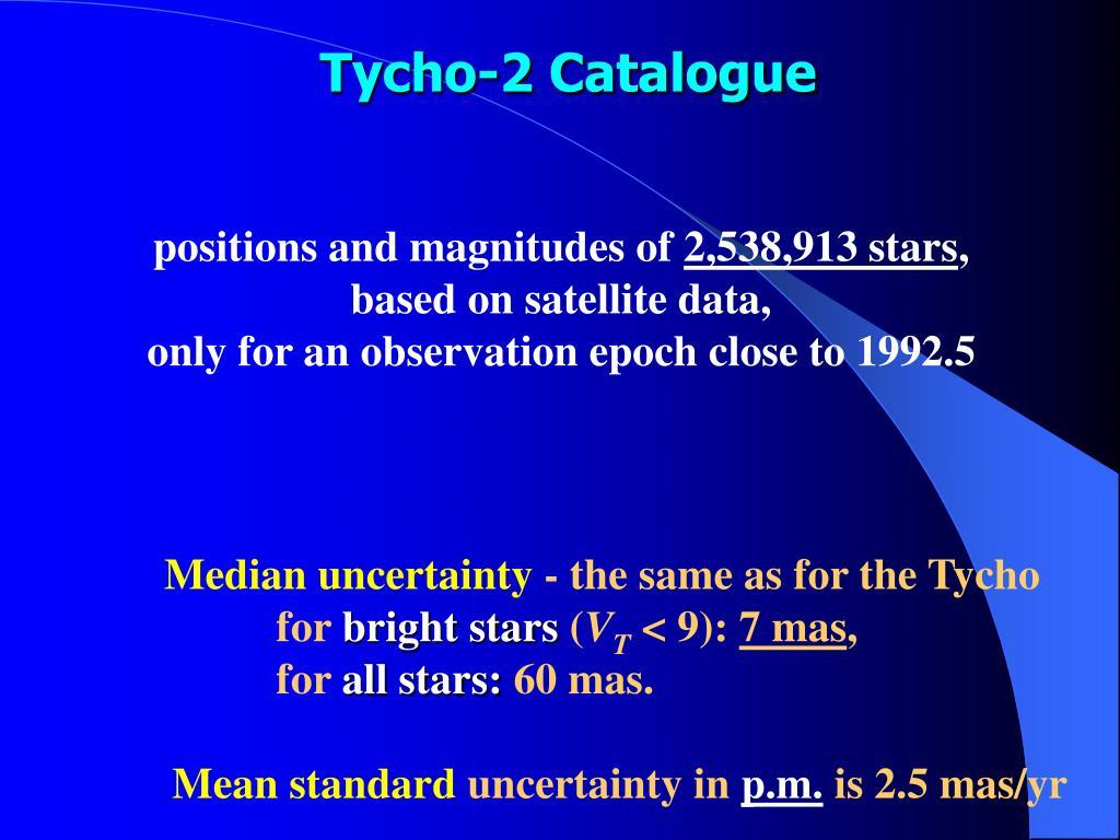 Tycho-2 Catalogue