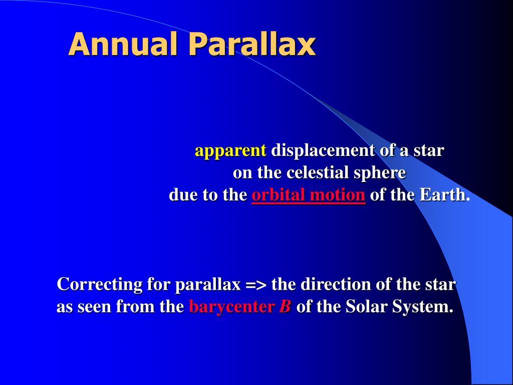 Annual Parallax