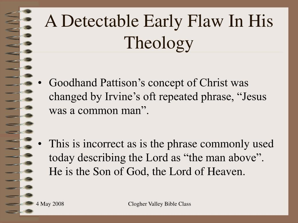 A Detectable Early Flaw In His Theology