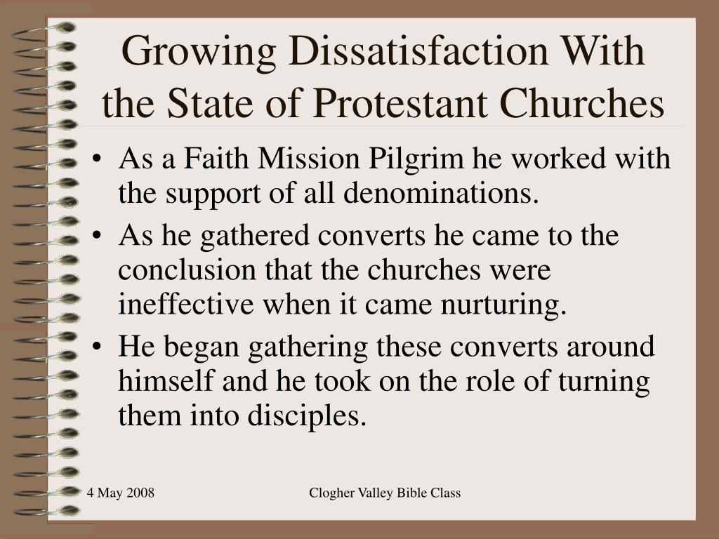 Growing Dissatisfaction With the State of Protestant Churches