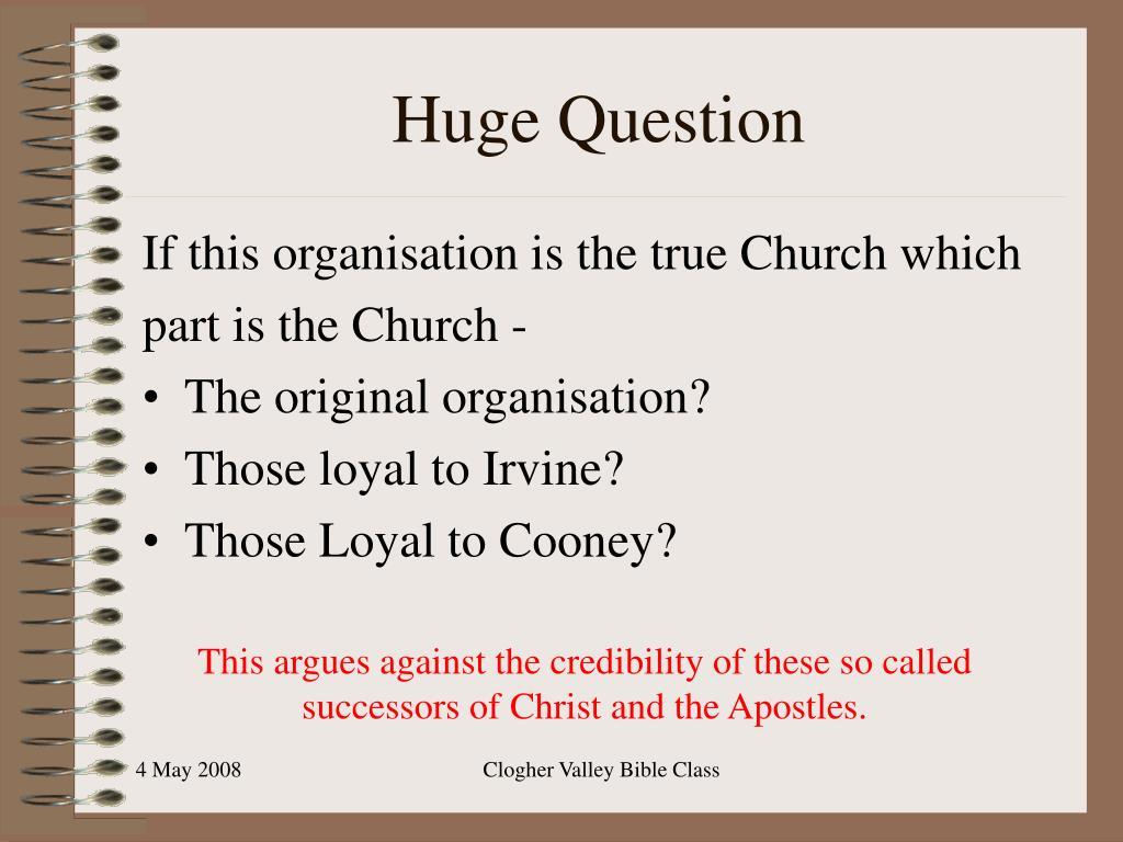 Huge Question