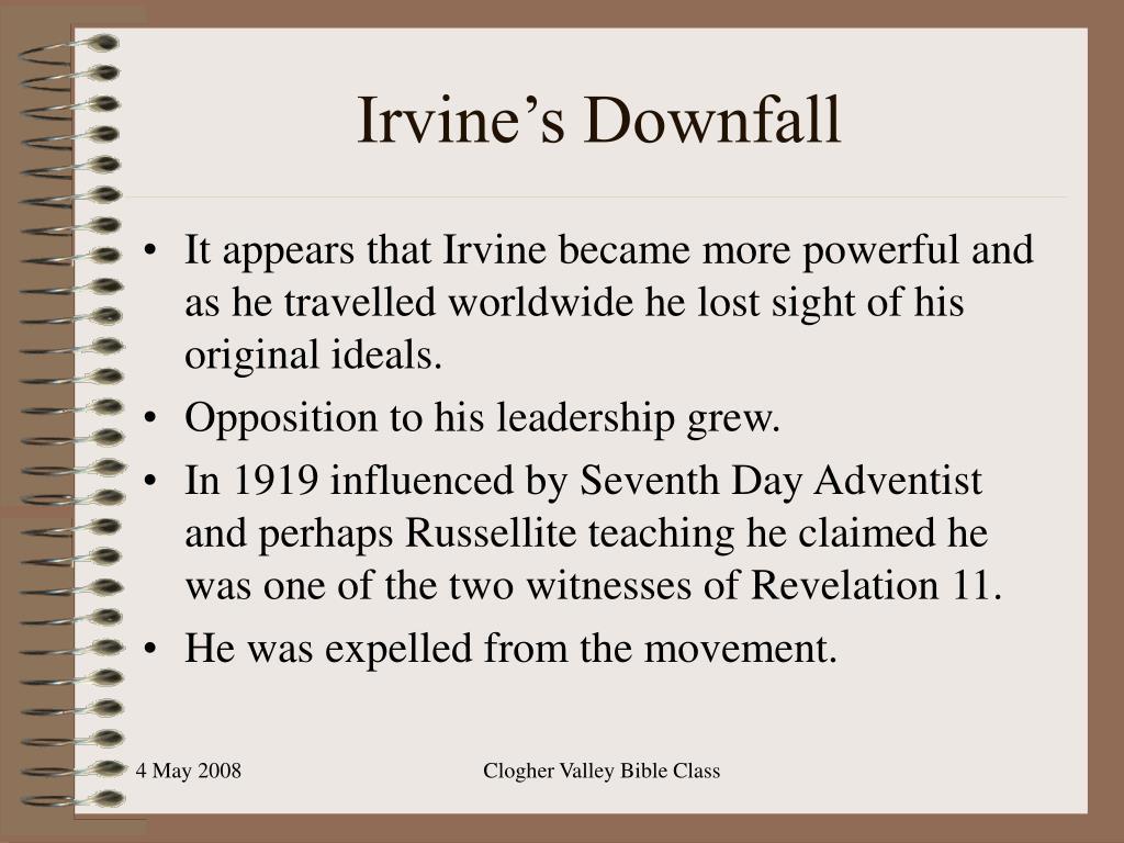 Irvine's Downfall