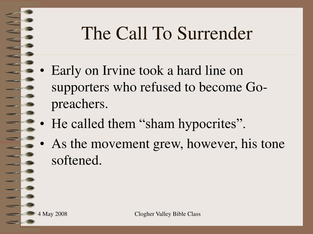 The Call To Surrender